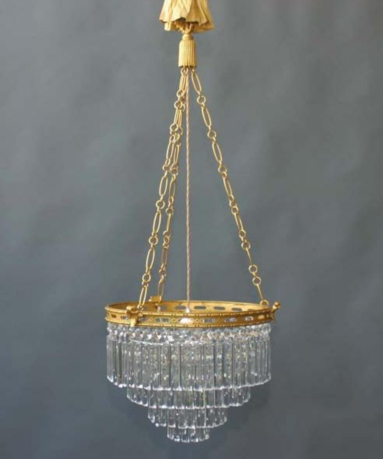 Fully Restored Waterfall Chandelier