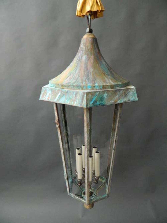 Late Victorian Copper / Verdigris Lantern