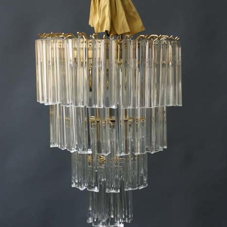 Murano Glass Prism Light Chandelier