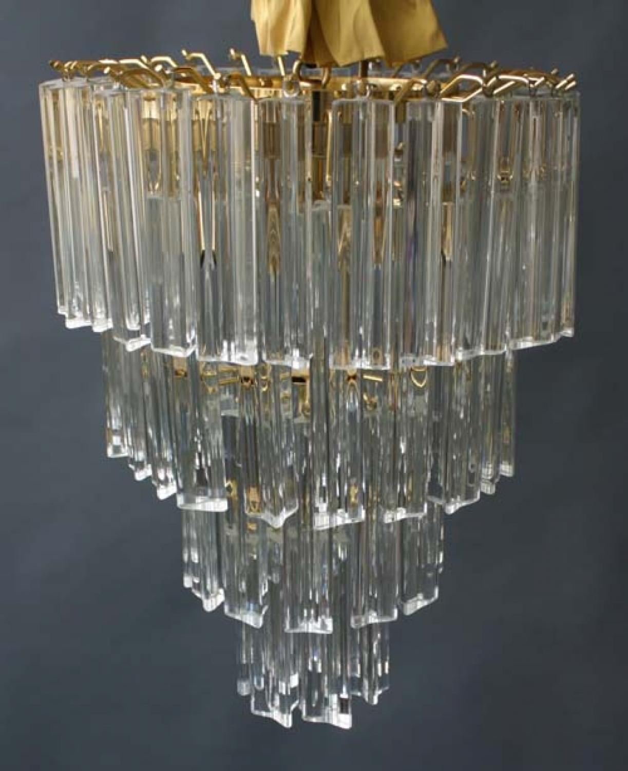 from sale prism chandelier geometric kinkeldey crystal vintage for