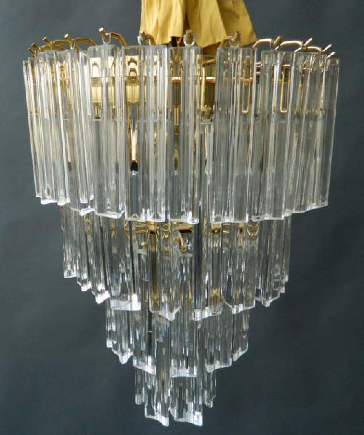 Murano Prism Chandelier: Murano Glass Prism Light Chandelier In Chandeliers