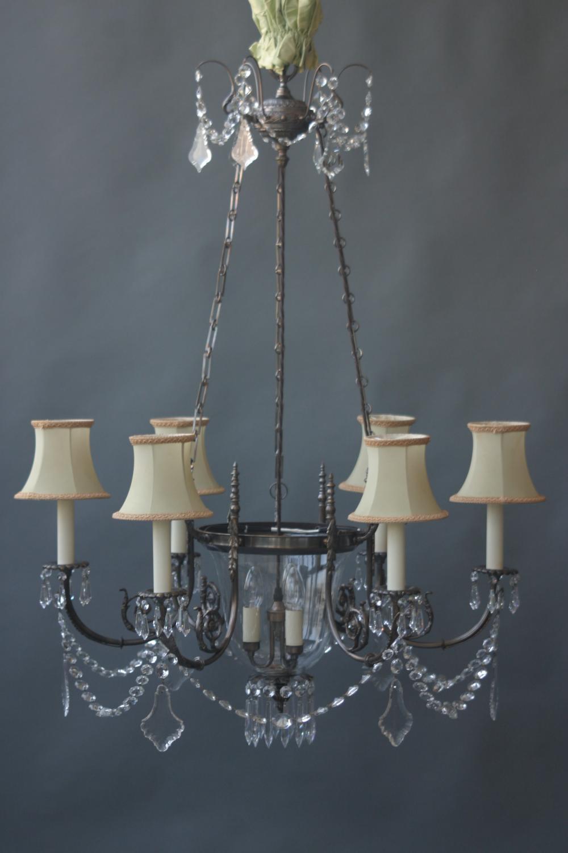 Russian style, 6+3 light chandelier