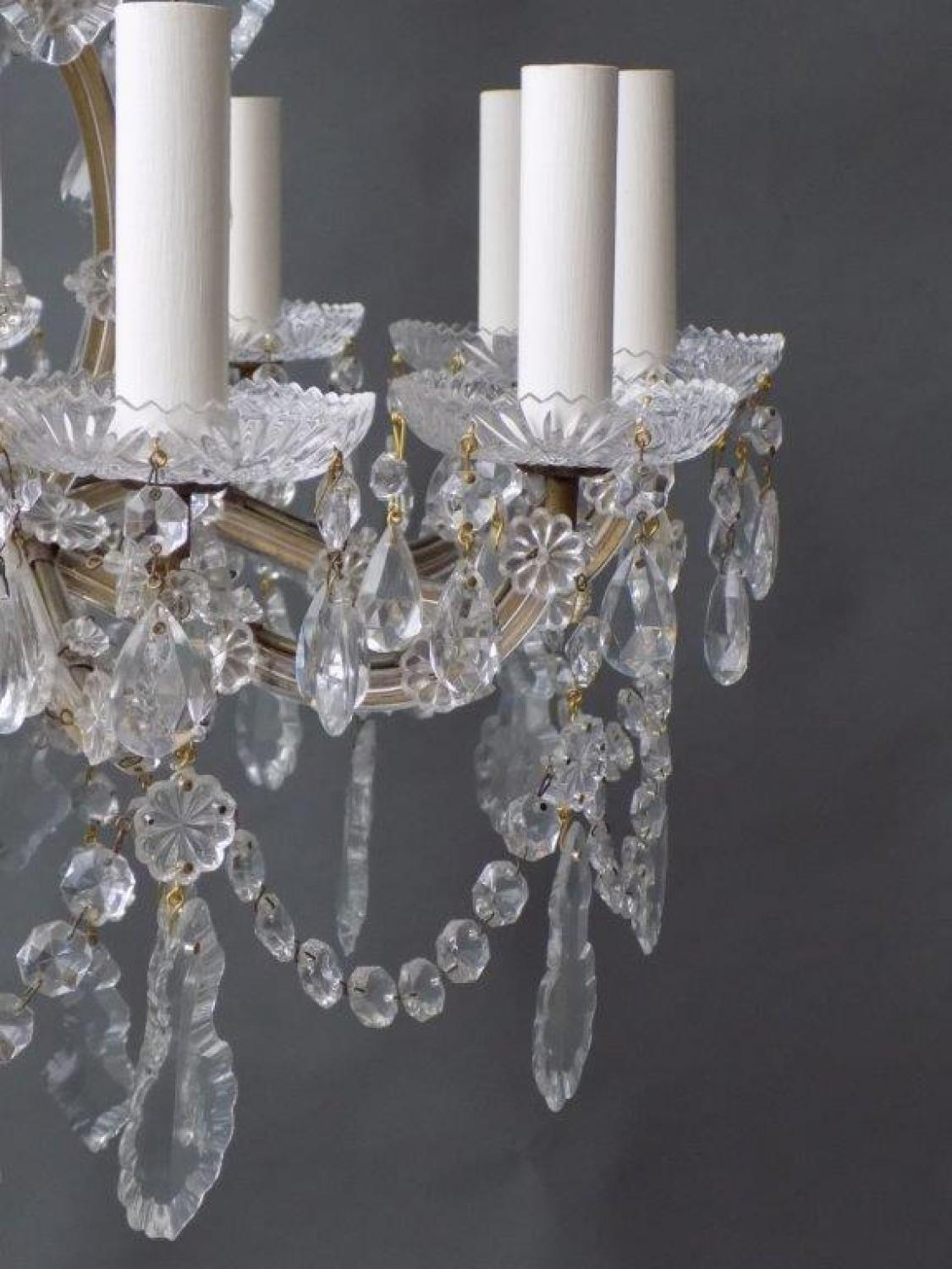 Crystal Chandelier Maria Theresa Style with 12 Lights , Mid 20th Century