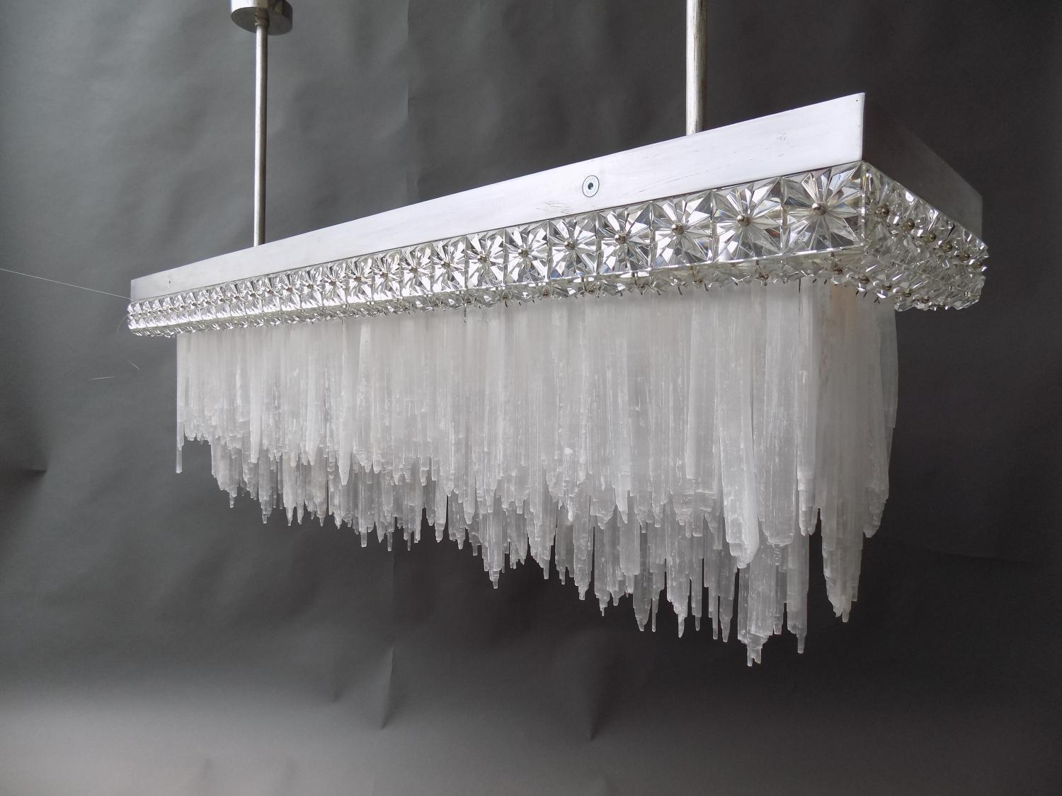 Unique Selenite Chandelier