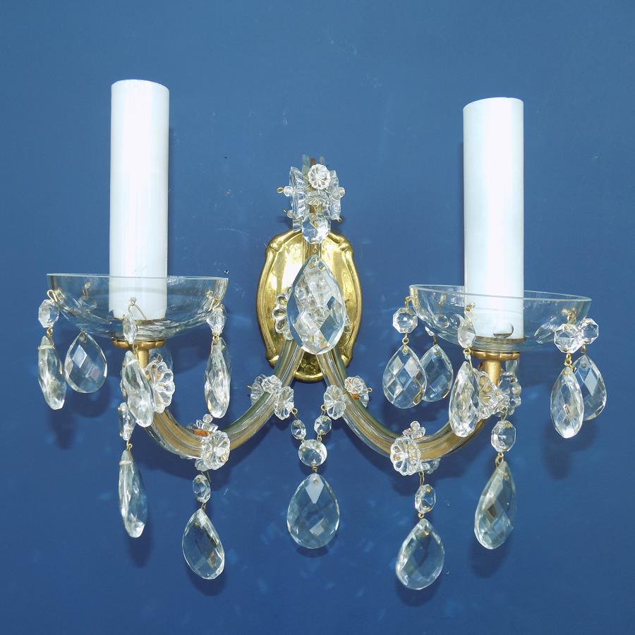 Pair of Two-Arm, Maria Theresa Sconces