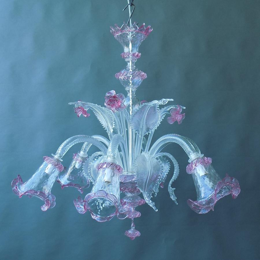 Handmade Venetian Glass Chandelier