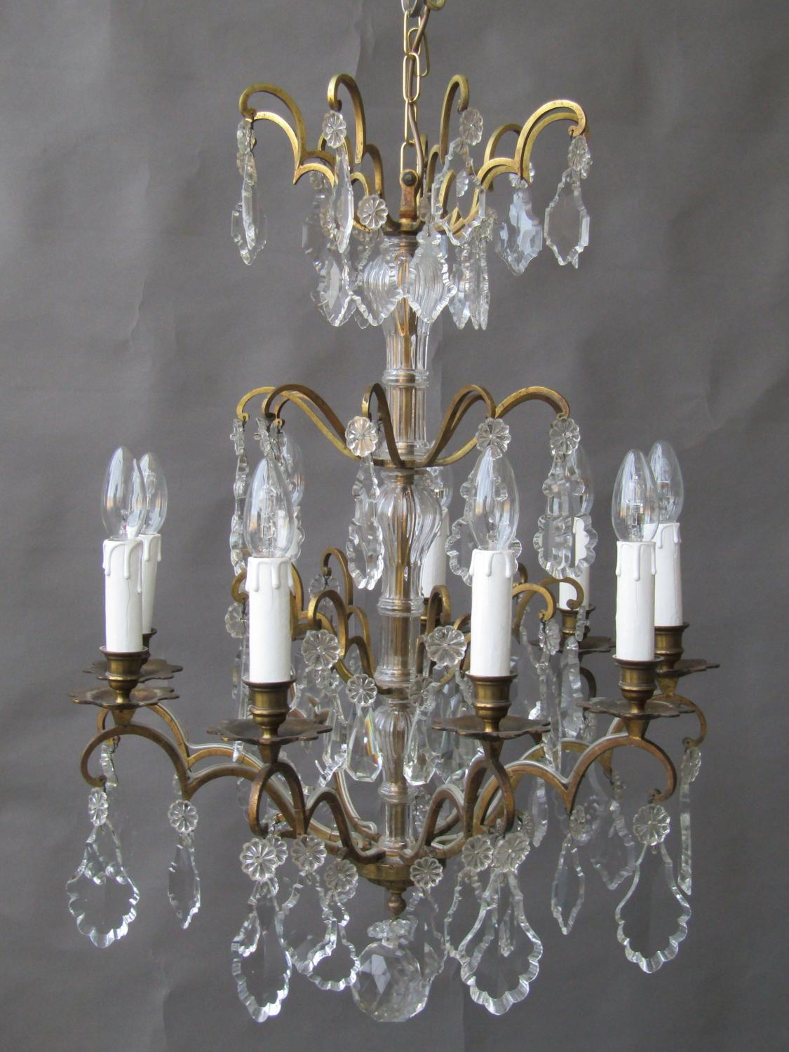 French 9 Arm Chandelier
