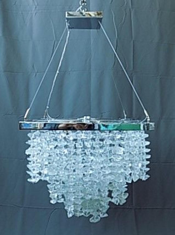Unique Rock Glass Chandelier